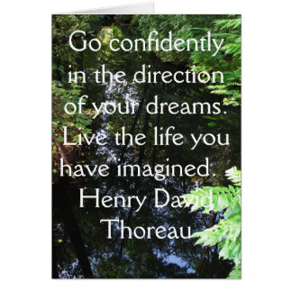 Henry David Thoreau QUOTATION Card
