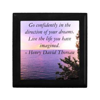 Henry David Thoreau QUOTATION Gift Box