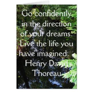 Henry David Thoreau QUOTATION Greeting Card