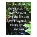 Henry David Thoreau QUOTATION Postcard