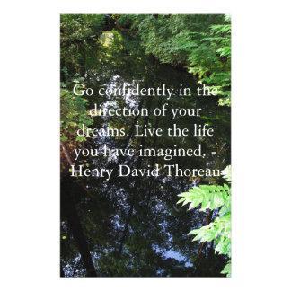 Henry David Thoreau QUOTATION Stationery Design
