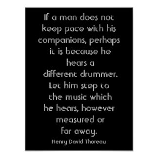 Henry David Thoreau quote - art print