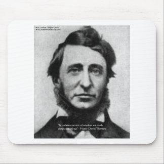 Henry David Thoreau Quote Mouse Pad