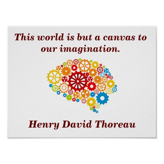 Henry David Thoreau quote - poster