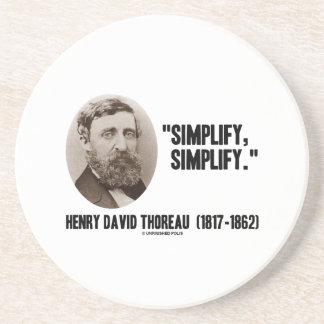 Henry David Thoreau Simplify Simplify Quote Beverage Coaster