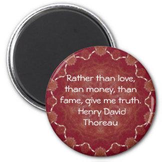 Henry David Thoreau Wisdom Quotation Saying 6 Cm Round Magnet