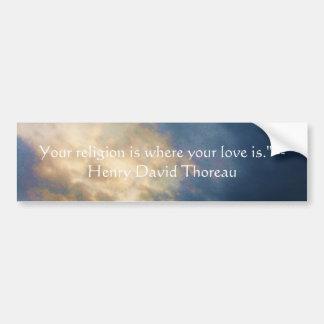 Henry David wisdom quote with wonderful sky Bumper Sticker