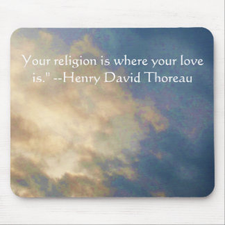 Henry David wisdom quote with wonderful sky Mouse Pad