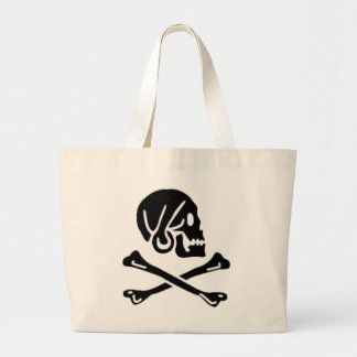Henry Every authentic pirate flag Large Tote Bag