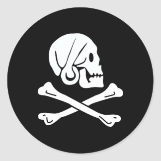 Henry Every authentic pirate flag Round Sticker