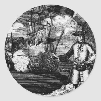 Henry Every Pirate Portrait Classic Round Sticker