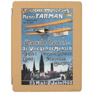 Henry Farman Flies the Flying Man Promo Poster iPad Cover