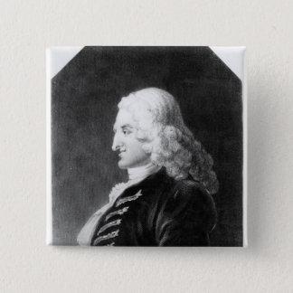 Henry Fielding  engraved by Samuel Freeman 15 Cm Square Badge