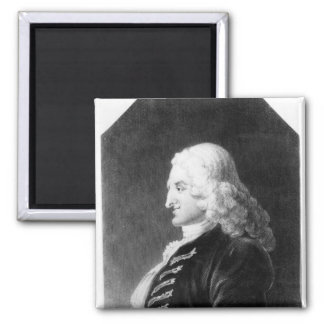 Henry Fielding  engraved by Samuel Freeman Square Magnet