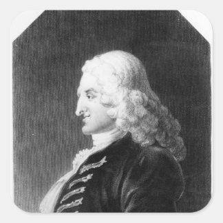 Henry Fielding  engraved by Samuel Freeman Square Sticker