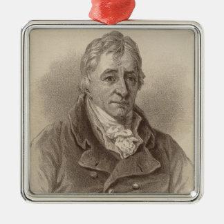 Henry Grattan Silver-Colored Square Decoration