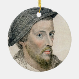 Henry Howard, Earl of Surrey (c.1517-47) engraved Round Ceramic Decoration