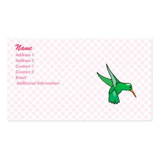Henry Hummingbird Pack Of Standard Business Cards