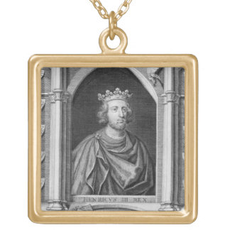 Henry III (1207-72) King of England from 1216, eng Square Pendant Necklace
