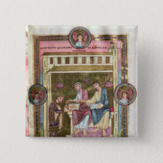Henry III  with the Apostles Simon and Jude 15 Cm Square Badge