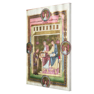 Henry III  with the Apostles Simon and Jude Gallery Wrapped Canvas