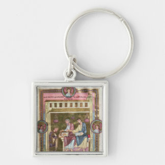 Henry III  with the Apostles Simon and Jude Key Ring