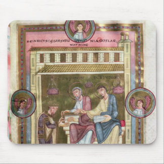 Henry III  with the Apostles Simon and Jude Mouse Mat