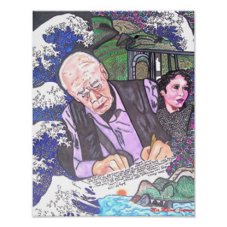 Henry Miller, Anais Nin and Big Sur Poster