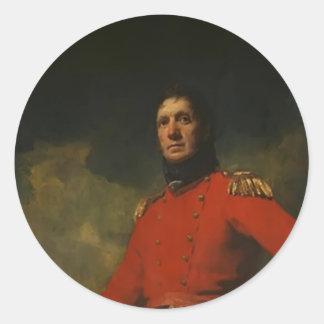 Henry Raeburn- Portrait of Colonel James Scott Round Sticker