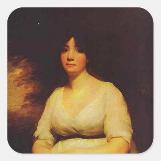 Henry Raeburn - Portrait of Mrs. Kenneth Murchison Sticker