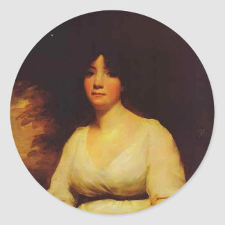 Henry Raeburn - Portrait of Mrs Kenneth Murchison Sticker