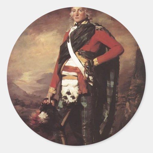 Henry Raeburn- Sir John Sinclair Round Stickers