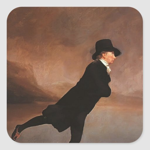 Henry Raeburn- The Skating Minister Stickers