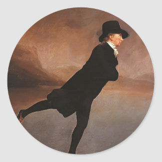 Henry Raeburn- The Skating Minister Round Stickers