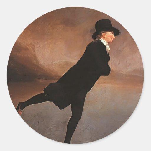 Henry Raeburn- The Skating Minister Round Stickers