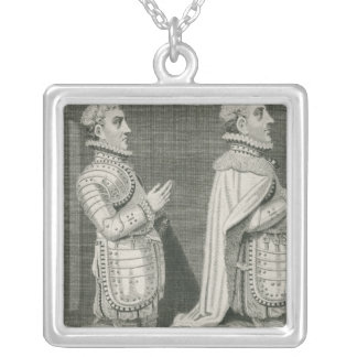 Henry Stuart, Lord Darnley and his brother Silver Plated Necklace
