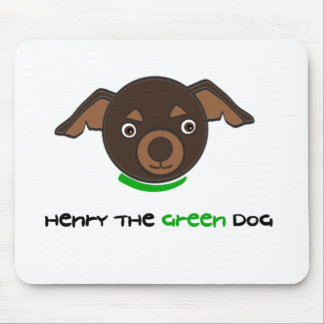 Henry the Green Dog Mousepad
