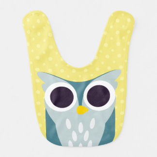 Henry the Owl Baby Bib
