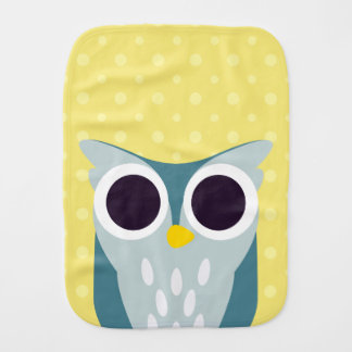 Henry the Owl Burp Cloth