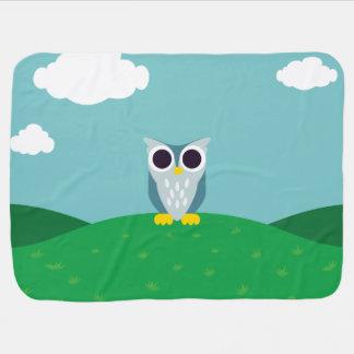 Henry the Owl Receiving Blanket