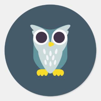 Henry the Owl Round Sticker