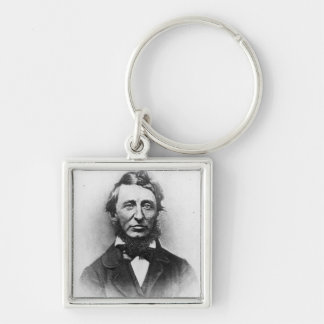 Henry Thoreau Silver-Colored Square Key Ring