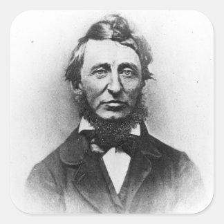 Henry Thoreau Square Sticker