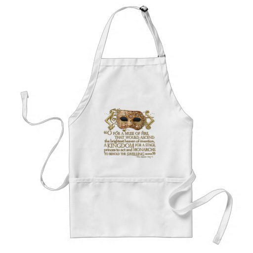 Henry V Quote (Gold Version) Aprons