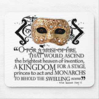 Henry V Quote Mouse Pad