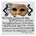 Henry V Quote Poster