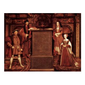 Henry Vii, Elizabeth Of York, Henry Viii And Jane Postcard