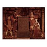 Henry VII&VIII,Elisabeth,Jane by Hans Holbein Post Cards