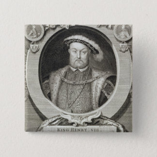 Henry VIII (1491-1547), after a painting in the Ro 15 Cm Square Badge