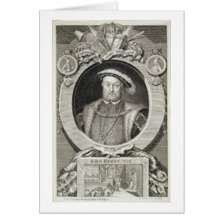 Henry VIII (1491-1547), after a painting in the Ro Greeting Card